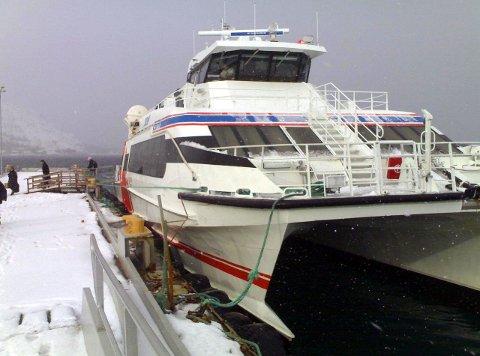 HYDROGEN-PLAN: Øst-Finnmark kan få en hydrogendrevet hurtigbåt som betjener Vadsø – Bugøynes – Kirkenes fra og med 2023. I første omgang ønsker politikerne det som et prøveprosjekt, og søker penger utenfra. Arkivbilde.
