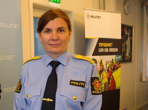 BILDE: Politimester Ellen Katrine Hætta i Finnmark hadde mye informasjon å komme med til justisminister Jøran Kallmyr.