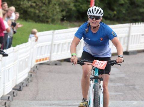 Helene Fossum Grønseth fra Eidsfoss, satte ny rekordtid på tre-topper for damer.