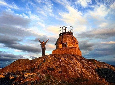 AUGUSTVINNER: Et nydelig bilde av branntårnet på Knuten.