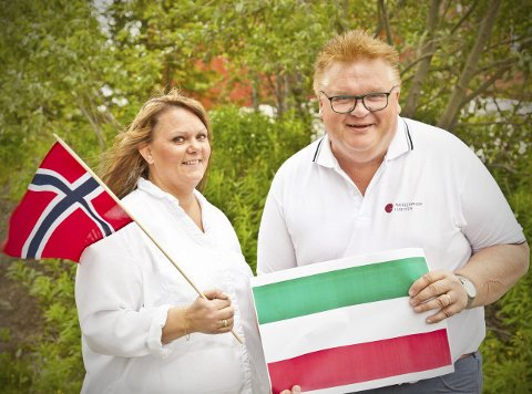 Italia: Randi Rasmussen og Roger Larsen i Matfestivalen i Lofoten frir til Italia før årets arrangement i september.