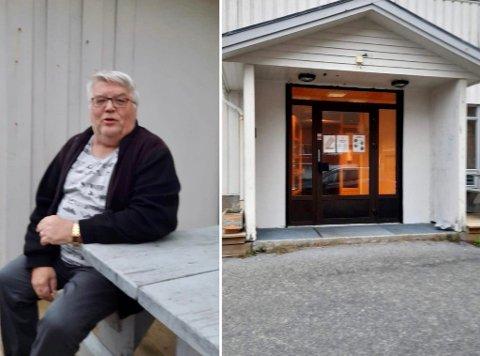 Bjørn Egil anslår at han bruker rundt åtte timer i uka på arbeidet ved den nye Møteplassen på Ramberg - og det gjør han med glede.