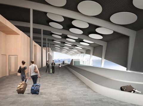 NY TERMINAL: Avinor sikrer finansieringen til en ny terminal på flyplassen i Tromsø.