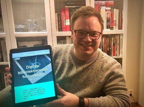 PÅ NETT: Fylkesordfører Even Aleksander Hagen er ikke uventet stolt over den digitale nyvinningen digibibinnlandet.no.