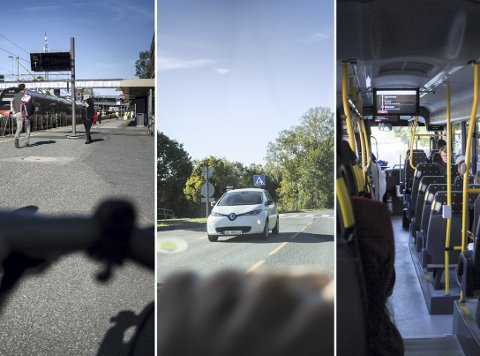 ALTERNATIVENE: Sykkel, bil eller buss er de beste alternativene hvis alle lokaltogene på Østfoldbanen blir stående til uken.