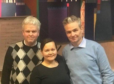 TOPPTRIO: (Fra venstre): Tønnes Steenersen, Monica Dervo-Lehn og Jarle Ørnebo.