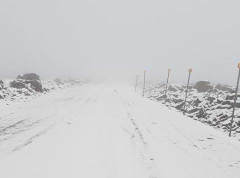 MIDLERTIDIG STENGT: Forrige uke var det varmest i landet på Tynset. I dag ligger snøen øverst i Tronfjell i nabobygda Alvdal.