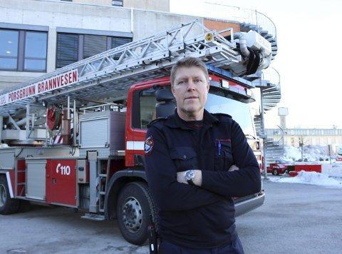 BEGRENSET: Utrykningsleder i Porsgrunn brann- og feiervesen, Terje Kristiansen, sier de kun rykker ut til istapper når det er fare for liv og helse.