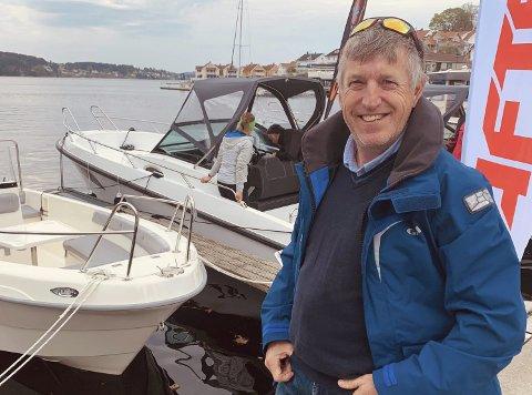 Gleder seg: Sandefjordsmannen Jarl Frode Kamfjord gleder seg til å starte opp AB Maritim på Heistad, sammen med Gøran Jensen og Telemark lystbåtformidling. Den nye forretningen skal være helt på plass 1. juni.