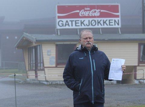 USIKKERT: Mathisen sier han ikke vil ut med noe negativt om kommunen. Men det som står i brevet er klart og tydelig. Usikkerheten om drift av Olavsberget fortsetter inn i det nye året.