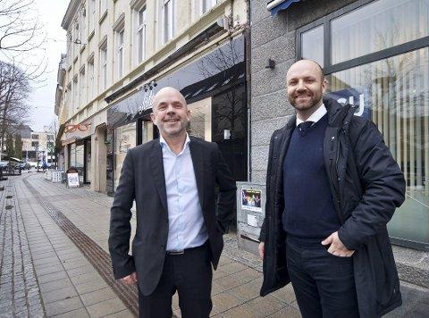 NABOER: Om ikke mange ukene skal Sørmegleren være på plass i nye lokaler, med Sparebanken Sør som nærmeste nabo.