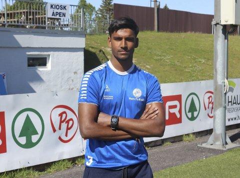 FORLATER PORS: Ajay Sureshkumar (20) forlater Pors. Nå blir det studier i Trondheim eller Kristiansand for keeperen, som er usikker på om han fortsetter fotballsatsingen.