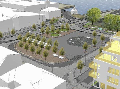 NYTT TORG: Dette er skissen for nye Franklintorget, et bypakkeprosjekt.
