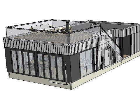SEIVALL: Fire hytter av denne typen skal bygges på Seivall, i nærheten av seilforeningen. Tre partier stemte imot, Ap, Høyre og Frp sa ja. Hyttene skal ikke overstige 100 kvm.