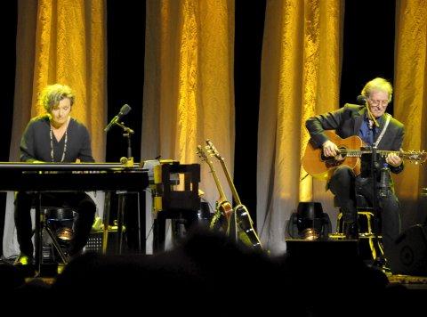 Ingrid Bjørnov og Øystein Sunde i suverent samspill i mars 2017. Nå kommer de tilbake.