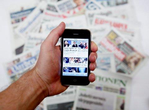 PÅ NETT: Når lesere av nettaviser finner en sak de bare må lese, er det krim som i størst grad gjør at de betaler for saken. Foto: Stian Lysberg Solum / NTB scanpix