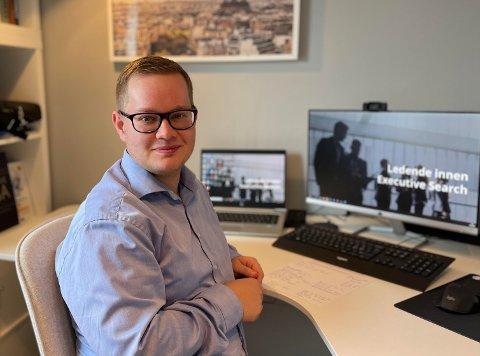PÅ VEI OPP: André Bråthen har som mange andre tilbragt mange timer på hjemmekontor de siste årene.