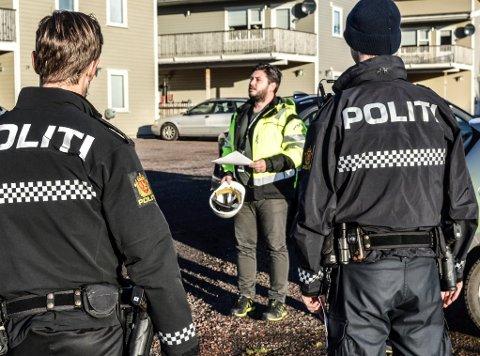 TILSYN: I noen tilfeller blir politiet bedt om å bistå i forbindelse med pålegg om stans i byggearbeider.