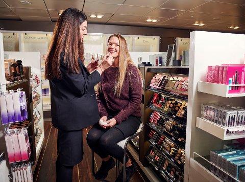 Fjord Line selger mest kjøtt og sjokolade i taxfreen, men også deodorant, dusjolje og lotion er populært.