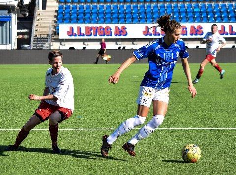 TAPTE: S08-damene tapte hjemme mot Frigg lørdag ettermiddag. Her er Jovana Trninic i aksjon hjemme mot Fjellhamar i mai.