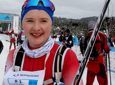 IMPONERTE: Thea Maurtvedt gikk både Ingalåmi lørdag og HalvBirken søndag. Begge dager kjempet Slitu-jenta helt i toppen.