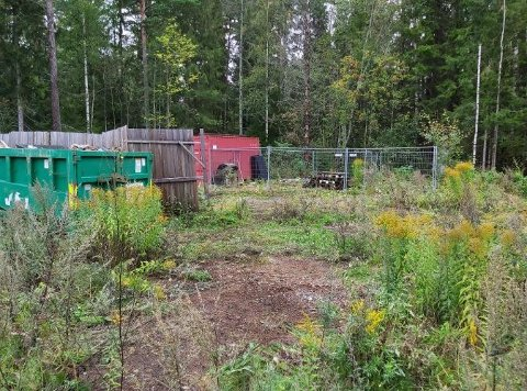 Slik så det ut etter at Frode Lindmo og tre andre hadde ryddet. Den ene konteineren blir fjernet denne uken.