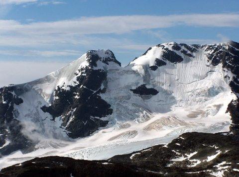 STÅr FAST: Gjertvassbreen er en isbre i Hurrungane i Jotunheimen. Den ligger nord for Styggedalstindane og Gjertvasstind.