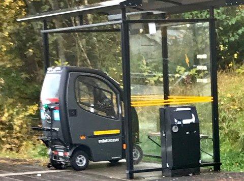 PARKERINGSHUS?: En TA-leser tok dette bildet og lurer på om Heistad har fått et parkeringshus.
