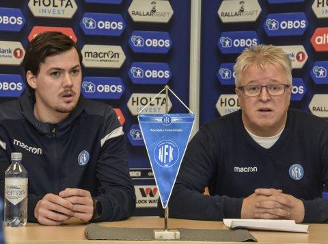 KONTROLL: Per Arne Hansen (til høyre) mener Notodden FK har kontroll på situasjonen.