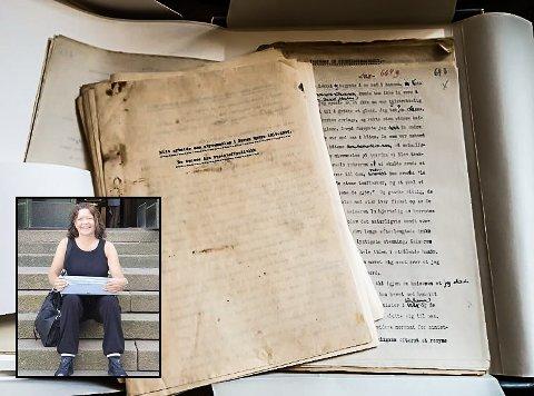 """HER ER DET: Dette er det til nå """"forsvunnede"""" manuset. Gro Rånman (innfelt) sporet det opp - og bruker det videre i sitt Sam Eyde-prosjekt - kalt """"Sam Eyde The Story"""""""