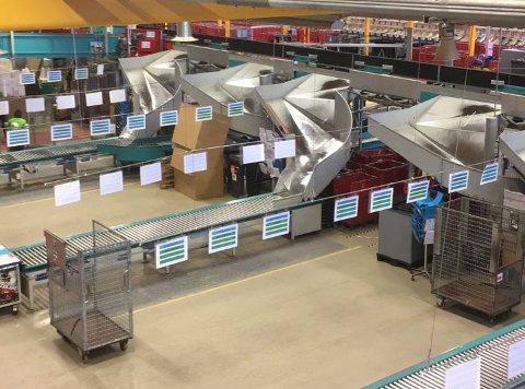 FERDIG TIL JUL: På postterminalen på Borgeskogen er nå jobben gjort. Juleposten er ute.