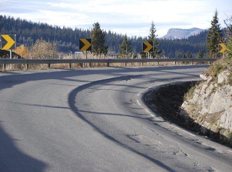 Smådalssvingen før asfaltering.