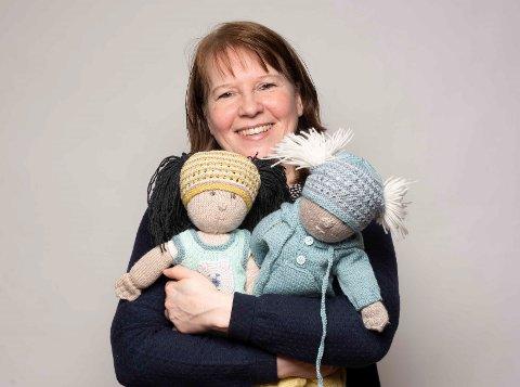 Strikkedilla: Siri Tolgensbakk har strikket siden hun var seks år.