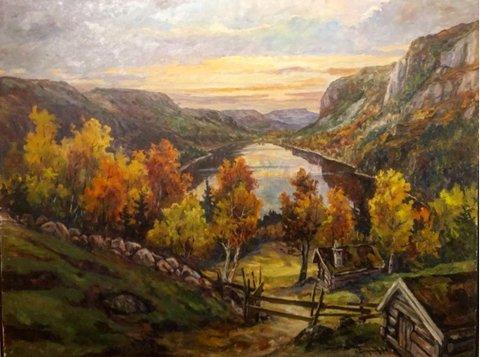 Herredsdalen, malt av kunstneren Angvik.