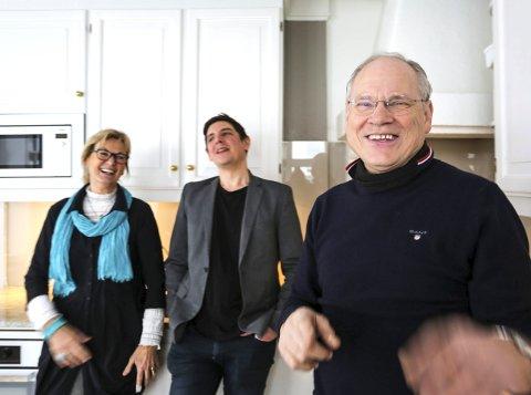KLARE TIL SATSING: Oddvar Halvorsen (t.h) setter alle kluter til og utvider Det lille hotel-konseptet ytterligere. Her med daglig leder David Arnesen og nyansatt kvalitetssjef Kari Hannemyr.Alle foto: Stig Sandmo