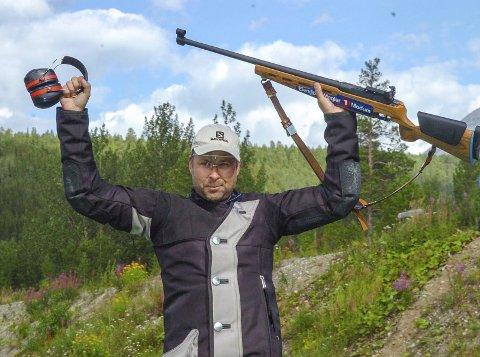 VANT STUPER'N: Harald Tandberg fra Søndre Modum tok sin tredje seier i felthurtigskytingen siden 2008, da han fredag vant øvelsen under årets Landsskytterstevne.
