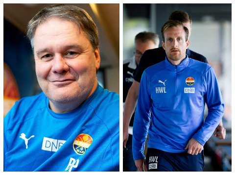 F.v.: BP Ingebretsen og Håkon Wibe-Lund skal fungere som trenerduo i Strømsgodset fremover.