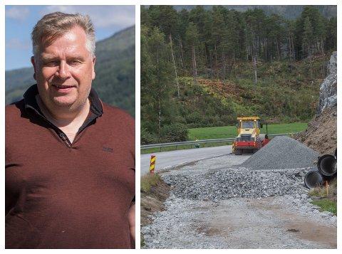 REAGERER: Atle Hamar gjekk ut i Firda om at det var lagt opp til samkøyring av grøftearbeid og ny gang- og sykkelveg mellom Kusslid og Moskog. Slik gjekk det ikkje heilt.