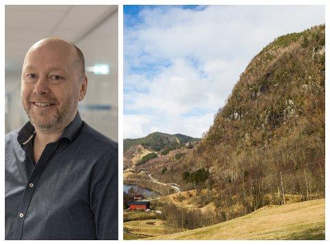 FORTGANG: Odd Harry Strømsli og Sunnfjord kommune håpar Statens vegvesen får fart på arbeidet med forslag om tunnel mellom Erdal og Naustdal.