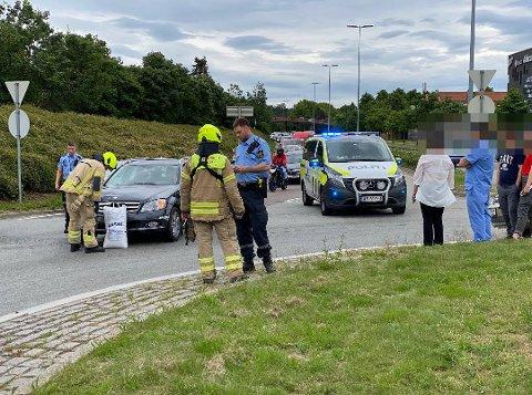 Én person ble kjørt til sykehus for sjekk etter trafikkulykken som inntraff ved Wilbergjordet torsdag ettermiddag.