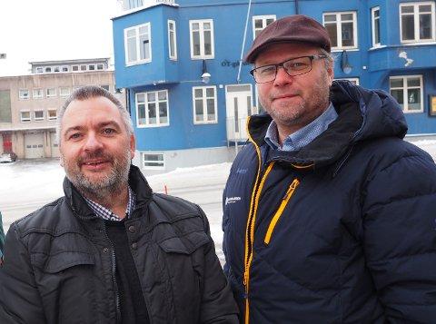 Lars Skjønnås og Bjørnar Evenrud. Evenrud blir konstituert som direktør i Narvikgården når Lars Skjønnås slutter for å bli rådmann i Narvik kommune. Skjønnås begynner i ny jobb 1. juni.