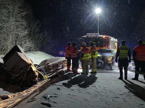 OMKOM: Det var Hilde-Gunn Sønvisen Hansen (30) og Kim Andre Nordbø (29) som omkom i ulykken på E8 31. januar.