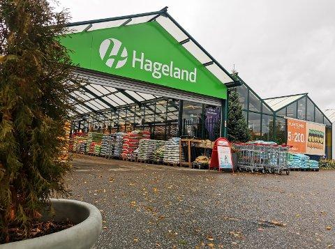 NYE PLANER: Planen er å rive og bygge nytt hagesenter og daglivarebutikk på Hageland-tomta på Jaren.