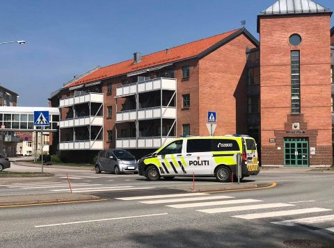 Ulykken har skjedd på Vaterland. (Foto: Morten Ulekleiv)