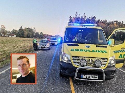 Arne Christian Folmer ble påkjørt mens han syklet på en slette i Degernes i fjor høst. Nå er en kvinne dømt til fengsel for uaktsomt å ha forårsaket de alvorlige skadene han ble påført etter kollisjonen - og for uaktsom kjøring.