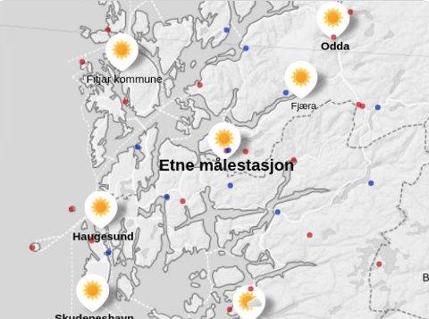 30,1 GRADER: Ny varmerekord i Norge i dag. Rekorden ble satt i Etne.
