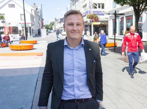 POL: Høyres gruppeleder Harald Larssen Lønning mener at et polutsalg på Raglamyr ikke nødvendigvis vil svekke sentrumshandelen..