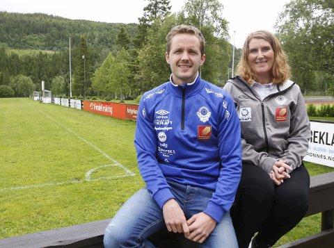 STILLE FØR STORMEN: Daglig leder og turneringsleder Håkon Stenersen og leder i Mosjøen IL Fotball Mona Berling fikk sin ilddåp under Kippermocupen i fjor, Nå skal de dra i land turnering nummer 37 i rekken. FOTO: PER VIKAN