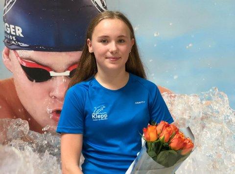 FRA KLEPP: Emma Sofie Friestad satte lørdag sin andre norske rekord.