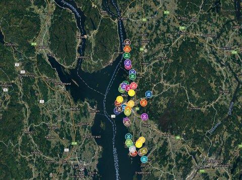 Klikk deg inn på lenken i artikkelen for å se det interaktive kartet.
